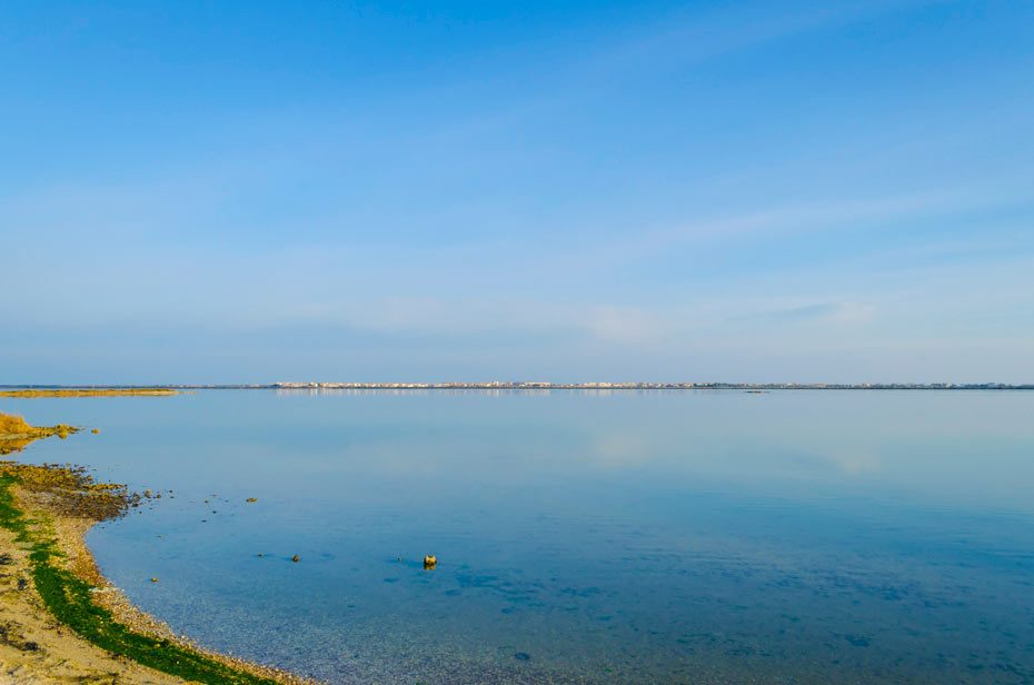 A frontignan plage, l'étang d'Ingril. Photo © Alain Marquina