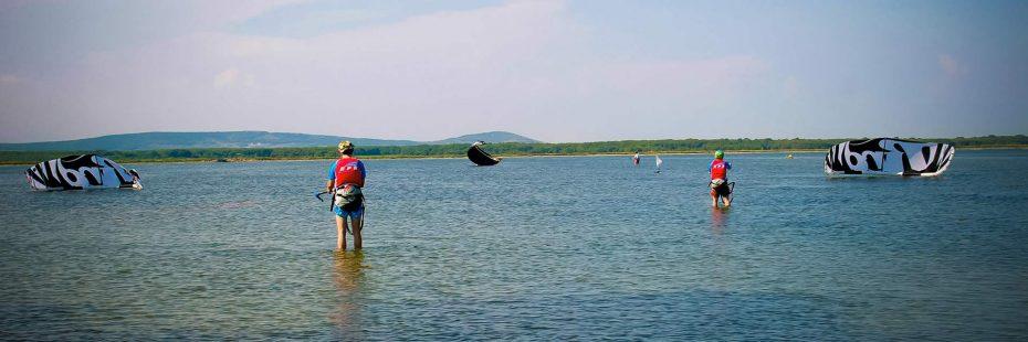 Ecole de Kite Optimum sur l'étang d'Ingril