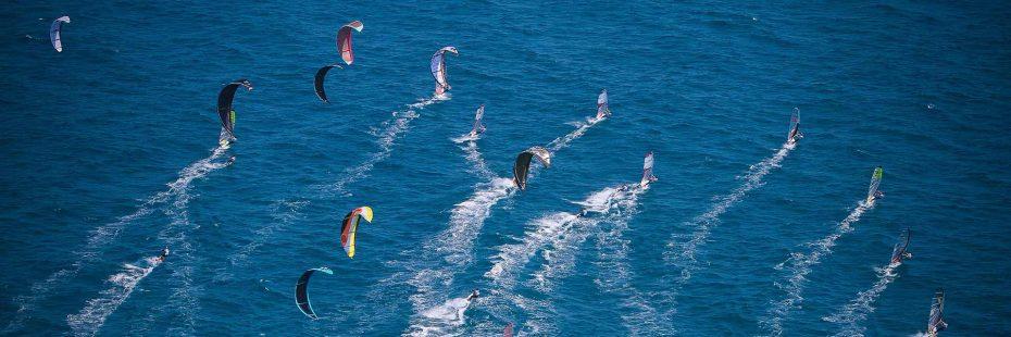 Kite surf et planche à voile frontignan plage