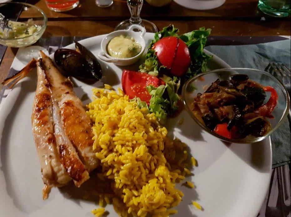 Lotte et riz frontignan plage restaurant l'Endroit