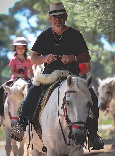 Patrick Garcia à cheval à Frontignan