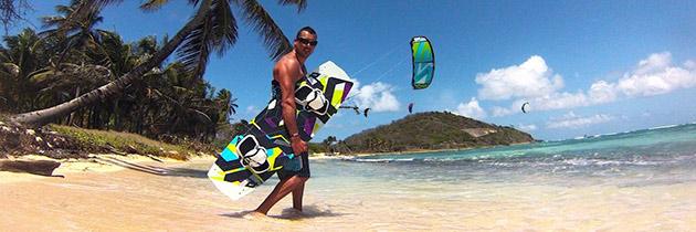 Kitesurf aux Grenadines