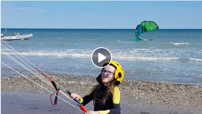 Le kitesurf à Frontignan Plage